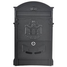 Beyondfashion Postgr��en 40,5 cm x 24,5 cm x 7,5 cm verschlie�bar Buchstabe Briefkasten (schwarz) Postbox Briefkasten Briefkasten f�r innen und au�en