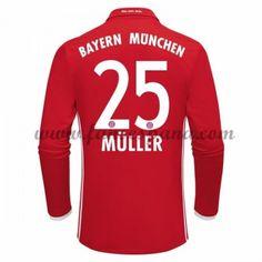 Camisetas De Futbol Bayern Munich Muller 25 Primera Equipación Manga Larga 2016-17