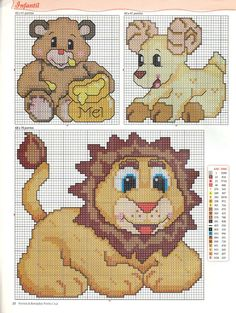 Oh, the lion is so cute <3