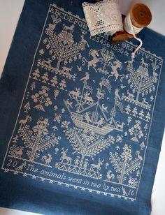 ru / Photo # 11 - L`ambre de Noe - kutihaa (Long Dog Samplers) Embroidery Sampler, Cross Stitch Embroidery, Embroidery Patterns, Cross Stitch Designs, Cross Stitch Patterns, Ambre, Ribbon Work, Cross Stitching, Handicraft