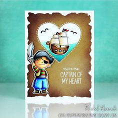 The Unpampered Stamper: You're the Captain of my Heart - MFT Stamps