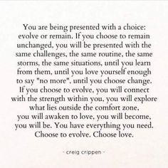 Choose to evolve...
