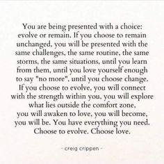 Choose to evolve...