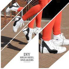 DIY sneaker pumps