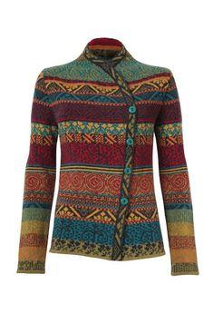 Womens Sweater Knitting Patterns Jacquard Jacket - Jacke | Ivko Woman