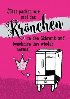 Krönchen in den Schrank | Frauen | Echte Postkarten online versenden | Gutsch…