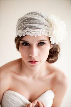 Bridal Veils & bridal headpieces by Melinda Rose Heirloom Bridal  ( @Melinda W Sandberg ) | http://blog.atlasandelia.com/2013/01/synergy/ #wedding #inspiration #ideas