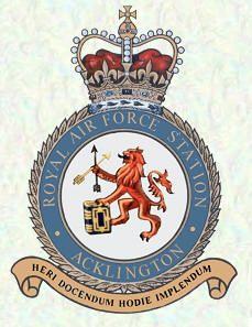 RAF Station ACKLINGTON. Location, County: Northumberland