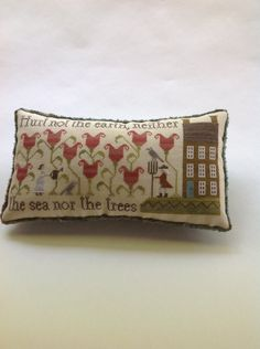 Hurt Not The Earth Pillow by Plum Street Samplers. Cross Stitch.