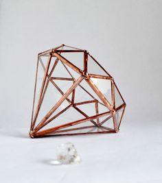 Diamond Diamond vorm Planter voor Indoor van jacquiesummer op Etsy