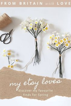 discover my favourite etsy finds for spring and easter - from exquisite handmade felt or paper flowers to hand-printed cards, vintage spring flower fabric, the most adorable duckling to crochet, antique glass bottles perfect for seasonal blooms and more #etsy #spring #easter #spring #handmadegifts #feltflowers Felt Flowers, Spring Flowers, Paper Flowers, Beauty Products Gifts, Creative Flower Arrangements, Antique Glass Bottles, Beautiful Flower Designs, Flower Fabric, Natural Candles