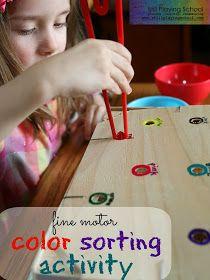 Still Playing School: Color Sorting Box