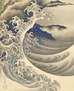 Japanese Drawings, Japanese Prints, Tattoo Japanese, Japanese Waves, Irezumi, Art Asiatique, Japanese Illustration, Art Japonais, Wave Art