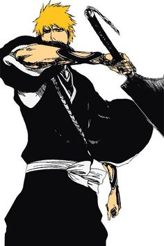 Ichigo Kurosaki (黒崎 一護, Kurosaki Ichigo) is a Human who has Shinigami powers. He is also a Substitute Shinigami. Ichigo is the son of Isshin and Masaki Kurosaki, and older brother of Karin and Yuzu.