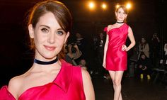 Alison Brie gets a head start to Valentine's Day in very tiny mini