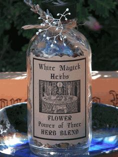 Power of Three Blend - Lavender, Chamomile, Rosebuds - Organic Witches Herb Bottle - YULE pagan wiccan witchcraft magick ritual supplies Wiccan, Magick, Pagan, White Witch Spells, Sonoma California, Witch Herbs, Ritual Bath, Kitchen Witchery, Herbal Magic