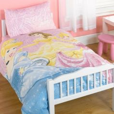 Kids/Childrens Disney Princess Junior Bed Bedding Duvet/Quilt Cover Set (twin bed) by Disney. $33.20. Official Licensed product.. Quality Bedding Set.. Duvet Size 120cm x 150cm.. Pillowcase Size 62cm x 42cm.. 48% cotton, 52% polyester .. Please note: This product is a UK import, this duvet cover supplied is smaller than the standard US duvet size and will not fit a twin bed. This is not a comforter but acover for a duvet.Official Licensed product. Quality Bedding ...