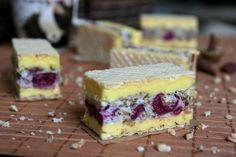 Miremirc - Prajitura Rumba cu visine Sweets Recipes, No Bake Desserts, Just Desserts, Baking Recipes, Cookie Recipes, Romanian Desserts, Romanian Food, Just Cakes, Food Cakes