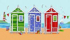 Beach Huts by Peter Adderley