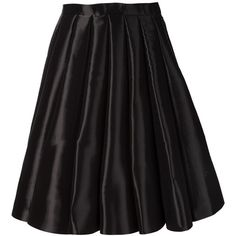 Junya Watanabe Comme Des Garçons pleated midi-skirt (2 310 AUD) ❤ liked on Polyvore featuring skirts, black, high waisted knee length skirt, straight skirt, calf length skirts, black pleated skirt and calf length black skirt