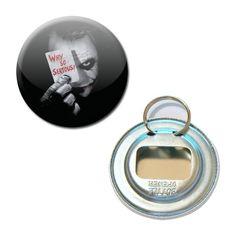 Décapsuleur Porte clé Badge 56 mm - Joker Batman The Dark Knight Heath Ledger DC Comics Film : Porte clés par miss-kawaii