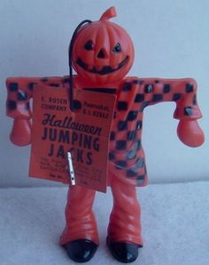 1950'S Vintage ROSEN ROSBRO Halloween PLASTIC Candy CONTAINER