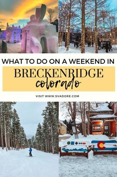 For the best views you head to the Alps, for the best snow you head to Colorado. Here's my guide to a weekend in Breckenridge. Colorado Resorts, Colorado Trip, Skiing Colorado, Ski Resorts, Colorado Springs, Denver Colorado, Colorado Winter, Travel Inspiration, Travel Ideas