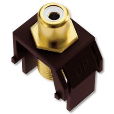 ON-Q / Legrand WP3461-BR RCA to F-Connector, Brown by On-Q/Legrand. $7.47. This high quality insert is for use in all Keystone wall plates. Standard RCA front jack Fits in all keystone wall plates Supports distribution of audio and video signals F-type coaxial rear jack for high quality audio and video distribution.