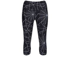 Featuring Webs And Spiders On A Dark Base, Tikiboo's Intricate Capri Length Leggings Are Fab For Halloween Gym Classes And Races. Freak Out Your Workout Buddies And Enjoy The Silky Soft Sculpting Fabric! Gym Leggings, Print Leggings, Capri Leggings, 100 Squats, Buddy Workouts, Gym Classes, Halloween Season, Spiders, Fancy Dress