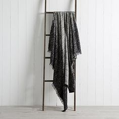 Crafted with a shimmering foil print pattern for a sophisticated finish, this soft faux mohair throw is machine washable for easy care and is crafted in a stylish blush pink tone. Blush Color, Blush Pink, Mohair Throw, Pink Tone, Pattern Fashion, Ladder Decor, Print Patterns, Stylish, Design