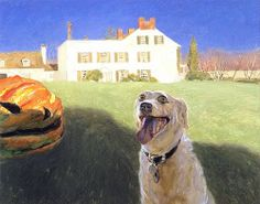 Jamie Wyeth -Dog Menaced By Vegetable- I relly like this painting and the title.