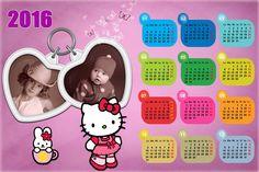Calendarios para Photoshop: Calendario del 2016 de Hello Kitty para Photoshop ...