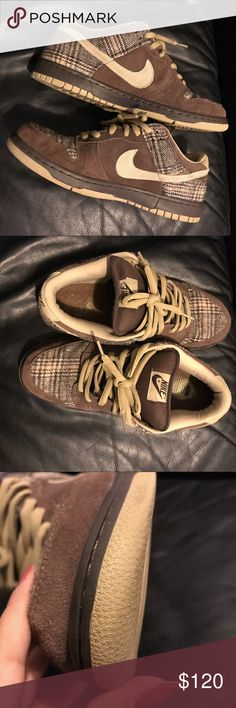 """Nike SB dunk """"Tweeds."""" Gently worn a few times. Sole still has stars and tread pattern. Released in 2004. No shoe box. Nike Shoes Sneakers"""