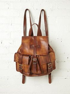 Cairo Distressed Backpack. Want.