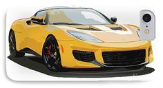 Lotus Evora 400 2017 IPhone 7 Case for Sale by Pablo Franchi.  Protect your iPhone 7 with an impact-resistant, slim-profile, hard-shell case.  The image is printed directly onto the case and wrapped around the edges for a beautiful presentation.  Simply snap the case onto your iPhone 7 for instant protection and direct access to all of the phone's features!