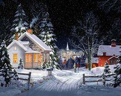 Уютные домики и не только на полотнах американского художника Fred Swan - Ярмарок Майстрів - ручна робота, handmade