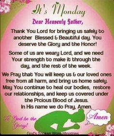 52 Best Monday Prayers and Blessings images in 2019   Monday
