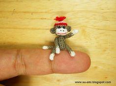 miniatur, sock monkeys, mini sock, baby socks, sockmonkey