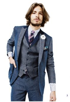 Three-piece suit in prints/stripes.  Etro Men's Wear spring summer 2012