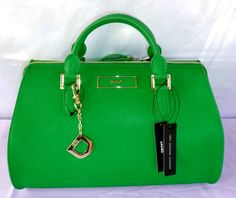Authentic DKNY Green Saffiano Leather with Zip Purse Handbag | eBay