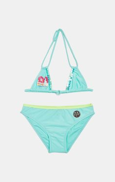 Bikini con paillettes by Maui and Sons, Azzurro acqua