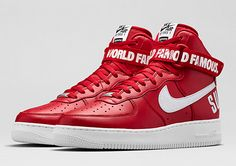 """Nikestore Releases Supreme x Air Force 1 High """"Red"""""""
