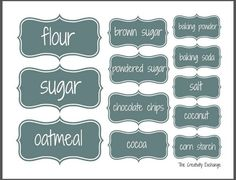 Free printable baking cabinet labels {The Creativity Exchange}