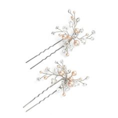 Women's Wedding Belles New York 'Poppy' Hairpin (490 MXN) ❤ liked on Polyvore featuring accessories, hair accessories, jewelry, gold, wedding belles new york, bobby hair pins and sparkly hair accessories