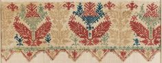 Fragment of sheet border. Greek (Cyclades, Anaphe or Siphnos), 17th–18th century