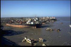 The ship breaking yards at Alang, India