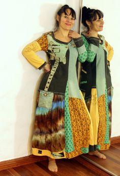 Funcky pop art recycled patchwork dress tunic hippie by jamfashion