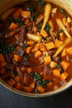 Meatless Monday: Root Vegetable Tagine with Kale