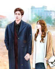 My secret romance Cute Couple Drawings, Cute Couple Art, Anime Love Couple, Manga Couple, Couple Cartoon, Anime Couples Manga, Girl Cartoon, Lion Couple, Romantic Anime Couples