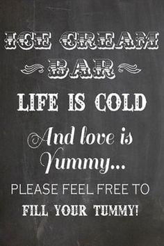 Such a cute sign for an #icecream bar lesalondelamariee.com